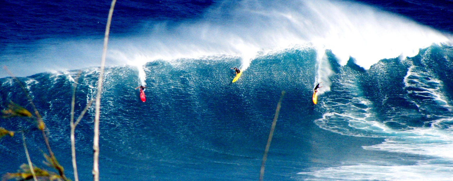 Jaws on Maui features some of the biggest waves in the world!