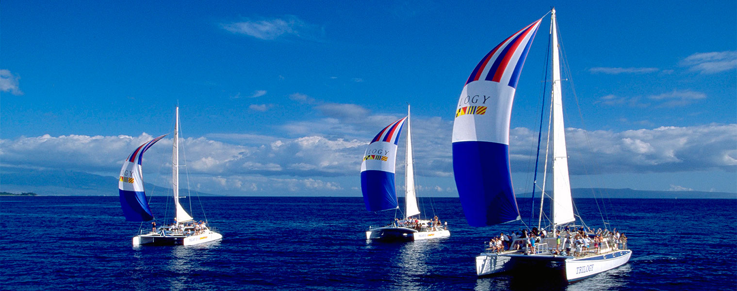 Hawaii's many catamarans offer endless boating experiences in Hawaii