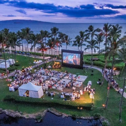 An Outdoor Drive-In Movie Night at the Grand Wailea?  Why not?