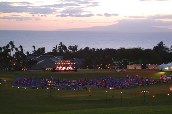 Wailea Driving Range Magic produced for 700 guests by Hawaii Meetings + Events for the total Wow Factor Experience