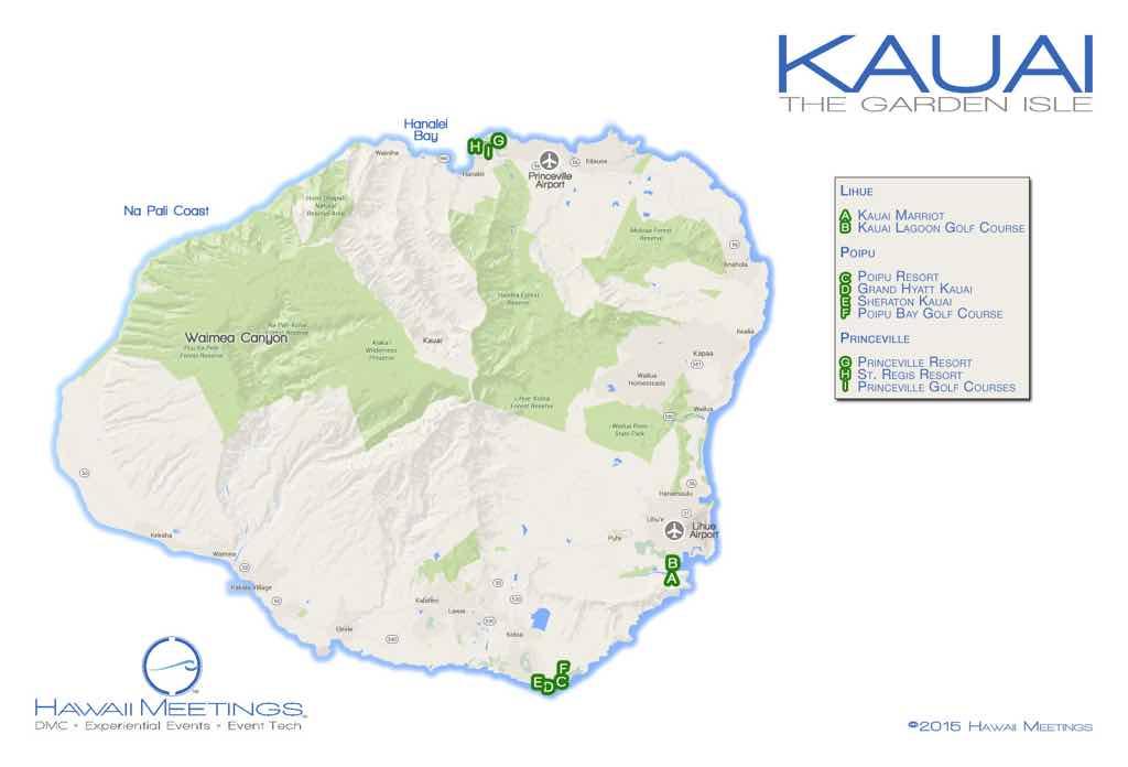 Meeting and incentive properties on the Hawaiian island of Kauai