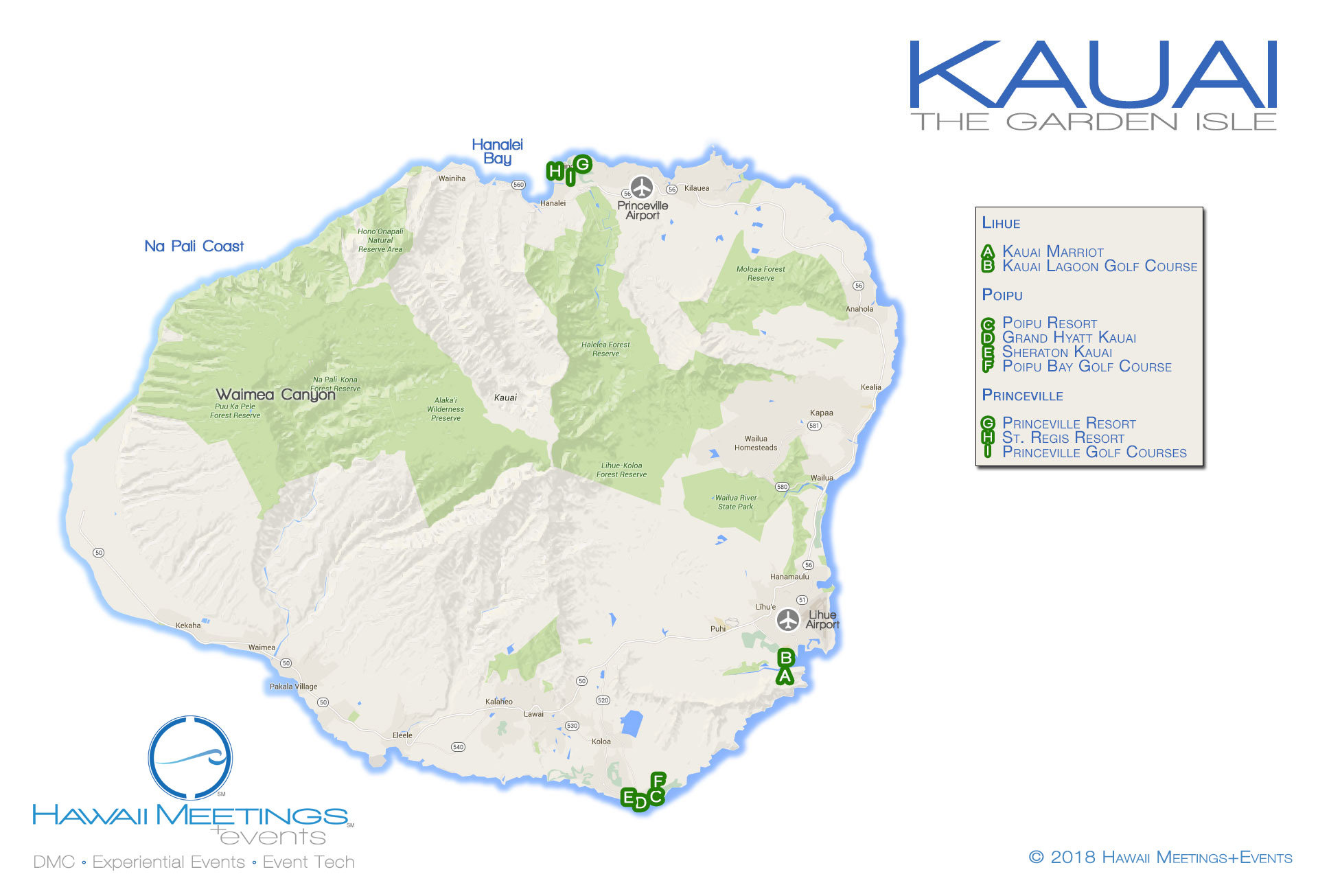 Meeting and incentive properties on the Hawaiian island of Kauai