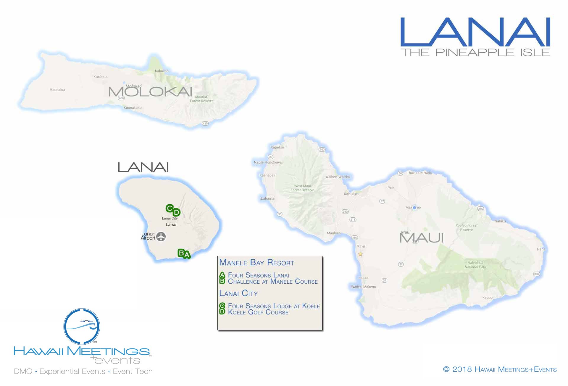 The luxurious meeting and incentive island of Lanai.